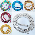 Natural Hematite Gemstone Square Beads Metallic Color 2 3 4 6 MM MBG121