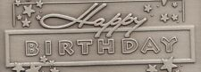 Personalized Happy Birthday coin ingot wishes Stars antiqued nickel encapsulated