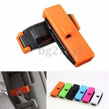 2x Car Seat Belt Adjustable Safety Strap Stopper Plastic Buckle Clip Lock Clamp
