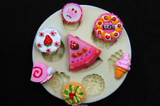 Silicone Molds, Sugarcraft Mold Mould,Cup Cake, Clay - Dessert Set