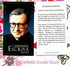 St Josemaria with Prayer for those Suffering with Diabetes- Paperstock Holy Card
