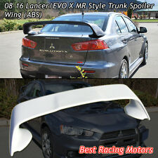 MR Style Rear Trunk Spoiler Wing (ABS) Fits 08-16 Lancer EVO 10 X