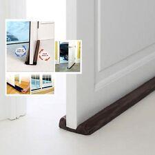 Twin Door Draft Dodger Guard Brown Stopper Energy Saving Protector Doorstop Home