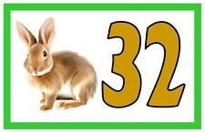 House Door Number Sign Bunny Rabbit Design Metal Door Sign