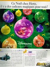 Publicité advertising 1996 Location de voitures Hertz Disneyland Paris
