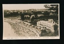Devon TORQUAY Palm Court Hotel Tennis Courts c1920/30s? RP PPC pub by Kine Snaps