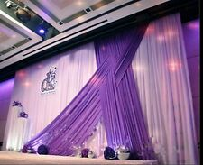 Luxury  backdrop drapes for wedding party stage decoration fabric curtains swags