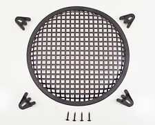 "6.5"" Round Waffle Style Woofer Subwoofer Speaker Grille Cover w/ 4 Clamps"