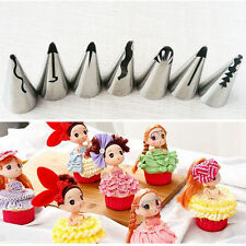 Stainless Steel Flower Icing Piping Nozzles Tips 7pcs Pastry Cake Baking Tool