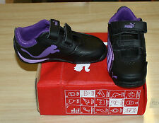 PUMA DRIFT CAT 4 V 3039800 INFANT SIZE 8 BLACK/PURPLE NEW IN BOX FREE SHIPPING