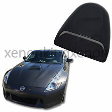 JDM Sport 1x HOOD SCOOP Smoke Black Universal Air Flow Front Cover Vent #a19 Car