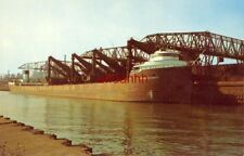 the iron ore carrier, Philip R Clarke unloading at GARY STEEL WORKS, INDIANA