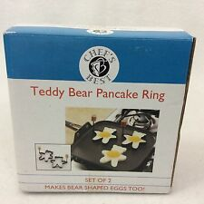 NEW in Box - TEDDY BEAR Shape PANCAKE EGG 2 RINGS HANDLES Breakfast Sandwich