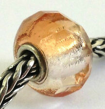 Authentic Trollbeads Faceted Pink Prism Bead Charm 60185, New