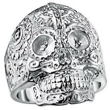 Promotions 925 silver personality Skull and crossbones Ring jewelry holiday gift