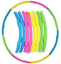 Portable Slot Together Hula Hoop Adjustable Adult Child Sports Aerobics R79 026