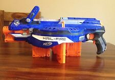 Nerf gun hail fire Semi Automatic With 4x Magazines Hailfire