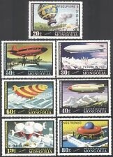 Mongolia 1977 Air Balloons/Zeppelin/Airships 7v n11580