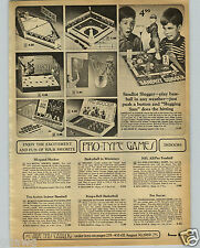 1968 PAPER AD Toy Hi Speed Hockey Tru Action Baseball NFL All Pro Football Game