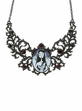 TIM BURTON WB THE CORPSE BRIDE EMILY ORNATE CAMEO PENDANT NECKLACE BRAND NEW