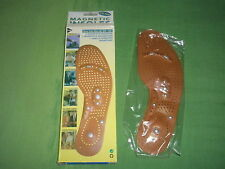 Lady's Shoe Boot Magnetic Acupuncture Therapy Foot Massage Insoles Inserts Gift