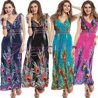 Dress Maxi Sleeveless Long Summer Evening Ladies Womens Party Plus Size 10-22 UK