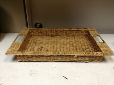 Hyacin Seagrass Wicker Woven Storage Basket Serving TRAY med table display 17x12