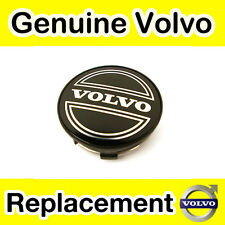 Genuine Volvo S40, V40 (-04) Black Volvo Alloy Wheel Centre Cap (x1)