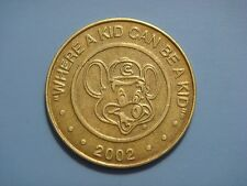 "CHUCK'Y CHEESE ""WHERE A KID CAN BE A KID"" USA TOKEN 2002"