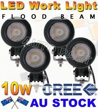 4X 10W Round CREE LED Work Light Flood 800LM Driving Reverse 4WD Lamp AU STOCK