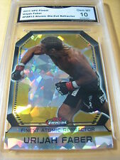URIAH FABER 2011 UFC FINEST ATOMIC DIE-CUT REFRACTOR # FAR-13 GRADED 10 L@@@K