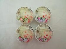 Set of 4 Shabby Floral Cabinet Knobs Drawer Knobs