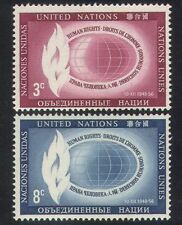 UN/United Nations 1956 Human Rights/Flame/Freedom/Fire/Animation 2v n39005