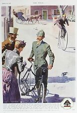 OLD VINTAGE ADVERT DUNLOP CYCLES PENNY FARTHING BICYCLE BIKE c1938 CYCLING