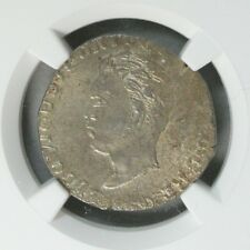 Ek // Rupia Silver Goa 1869 India Portuguese Colony Luis I : NGC MS62