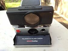 POLAROID SX-70 Sonar ONE STEP Folding land Camera Black Leather & Silver