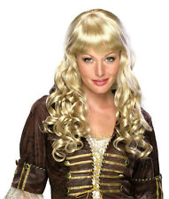 Deluxe Elise Long Dirty Blonde Curly Wig with Bangs