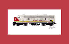 "Algoma Central FP7 11""x17"" Matted Print Fletcher signed"
