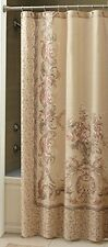 Croscill Normandy Natural Bathroom Shower Curtain floral 100% cotton cottage