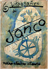 1954 Original MARCEL JANCO Sketch SIGNED DRAFT POSTER Watercolor & Pencil DADA