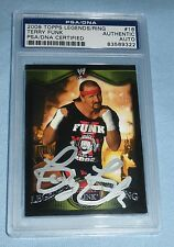 Terry Funk Signed 2009 WWE Topps Legends of the Ring Card #16 PSA/DNA COA Auto'd