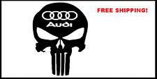 Audi Punisher Skull Decal Sticker a4 a8 car suv quattro