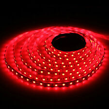 5m 500cm 5050 RED SMD 300 LED Flexible Light Strip Lamp DC 12V
