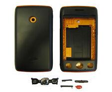 For LG T300 Cookie Lite Housing Fascia Back Battery Cover Case Black Orange UK