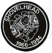 HOG BIKER EMBROIDERED FLH SHOVEL HEAD MOTORCYCLE SHOVELHEAD MOTORCYCLE FLH PATCH