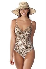 GOTTEX MACULATO V NECK ONE PIECE SWIMSUIT - ALLEGRO Style 15MA-126R  Size 14