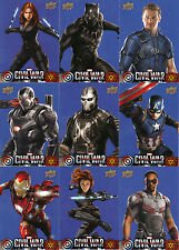 Pick 2 for $1.29! Captain America Civil War Wal Mart Exclusive Cards! Red & Blue