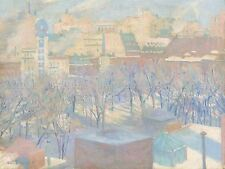 ALLEN TUCKER AMERICAN MADISON SQUARE SNOW OLD ART PAINTING POSTER BB4806A