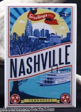 "Nashville Vintage Travel Poster 2"" X 3"" Fridge / Locker Magnet. Tennessee"