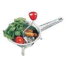 Moulin à légumes en inox + 3 grilles - D: 24 cm